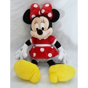"Disney Authentic Red Dress Minnie Mouse 18"" Plush"